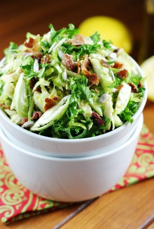 shredded cabbage recipe with bits of bacon