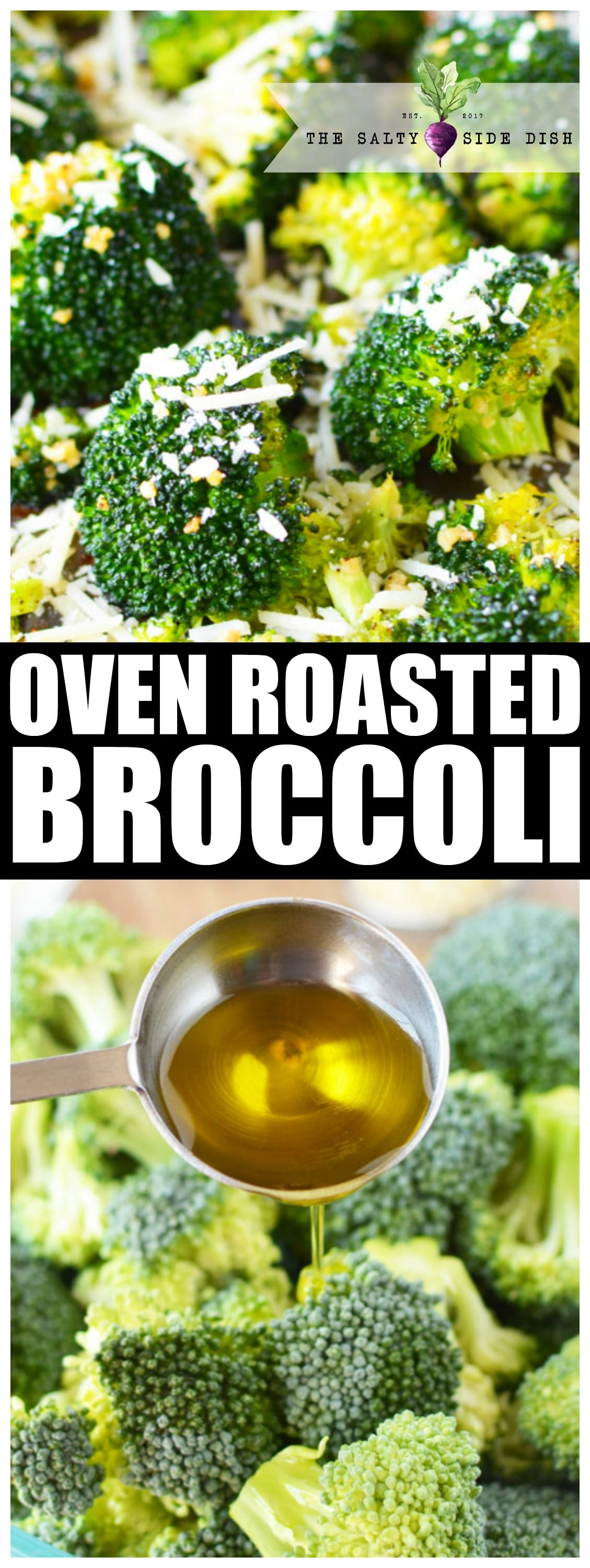 Oven Roasted Broccoli with Garlic and Parmesan Recipe | How to Roast Broccoli | Side Dish #broccoli #vegetarian #vegetables #veganrecipes #sidedish #food #foodblogger #dinner #dinnerrecipes