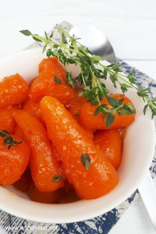 orange juiced glazed carrots with herbs