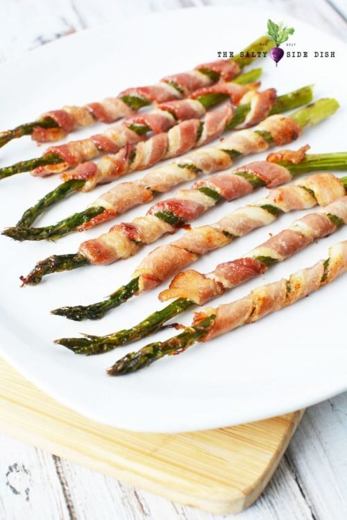 asparagus on tray ready to serve