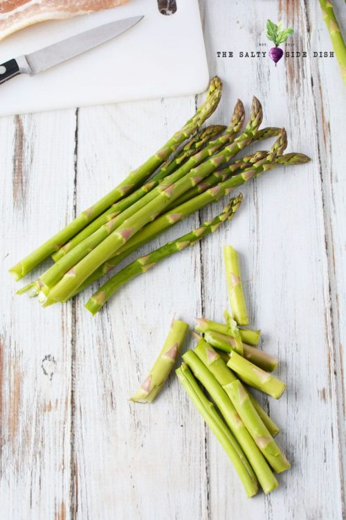 cut asparagus ends off