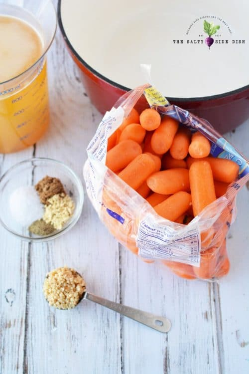 raw carrots in a bag