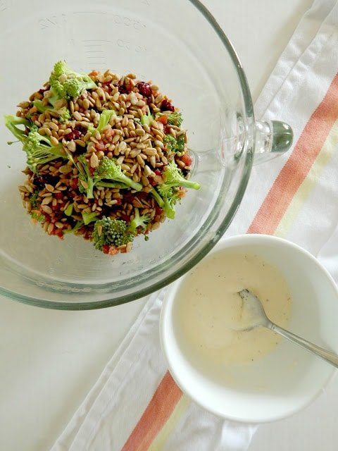 broccoli salad with sauce