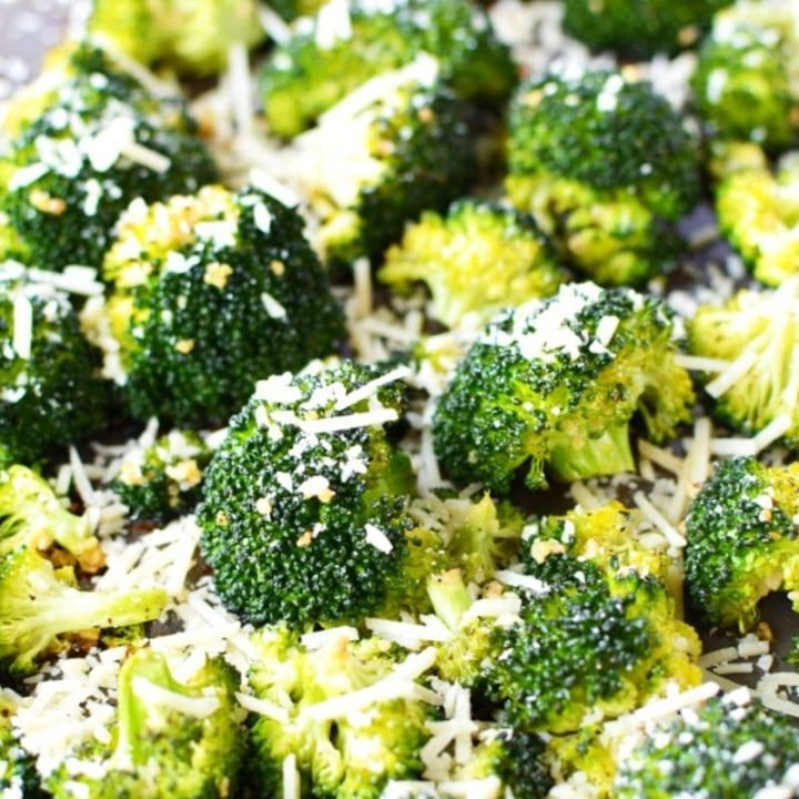Oven Roasted Broccoli with Garlic and Parmesan