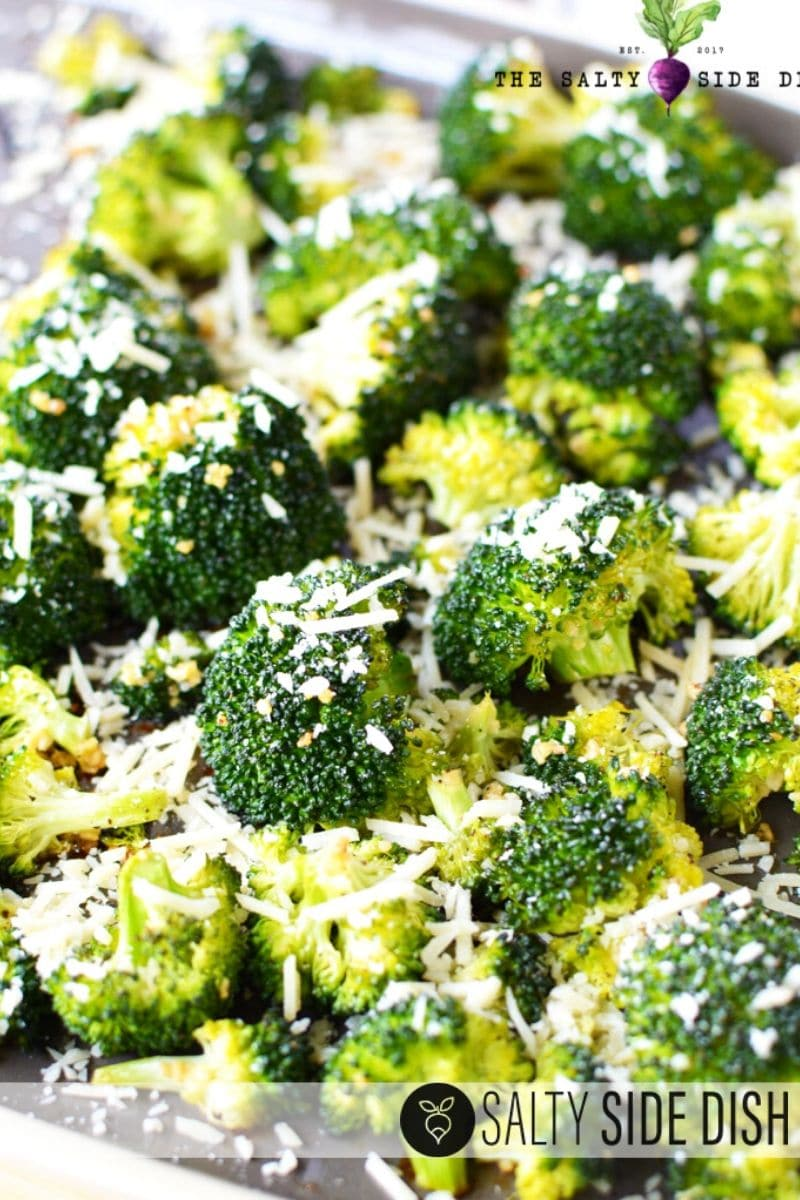 Garlic Broccoli with Parmesan oven baked