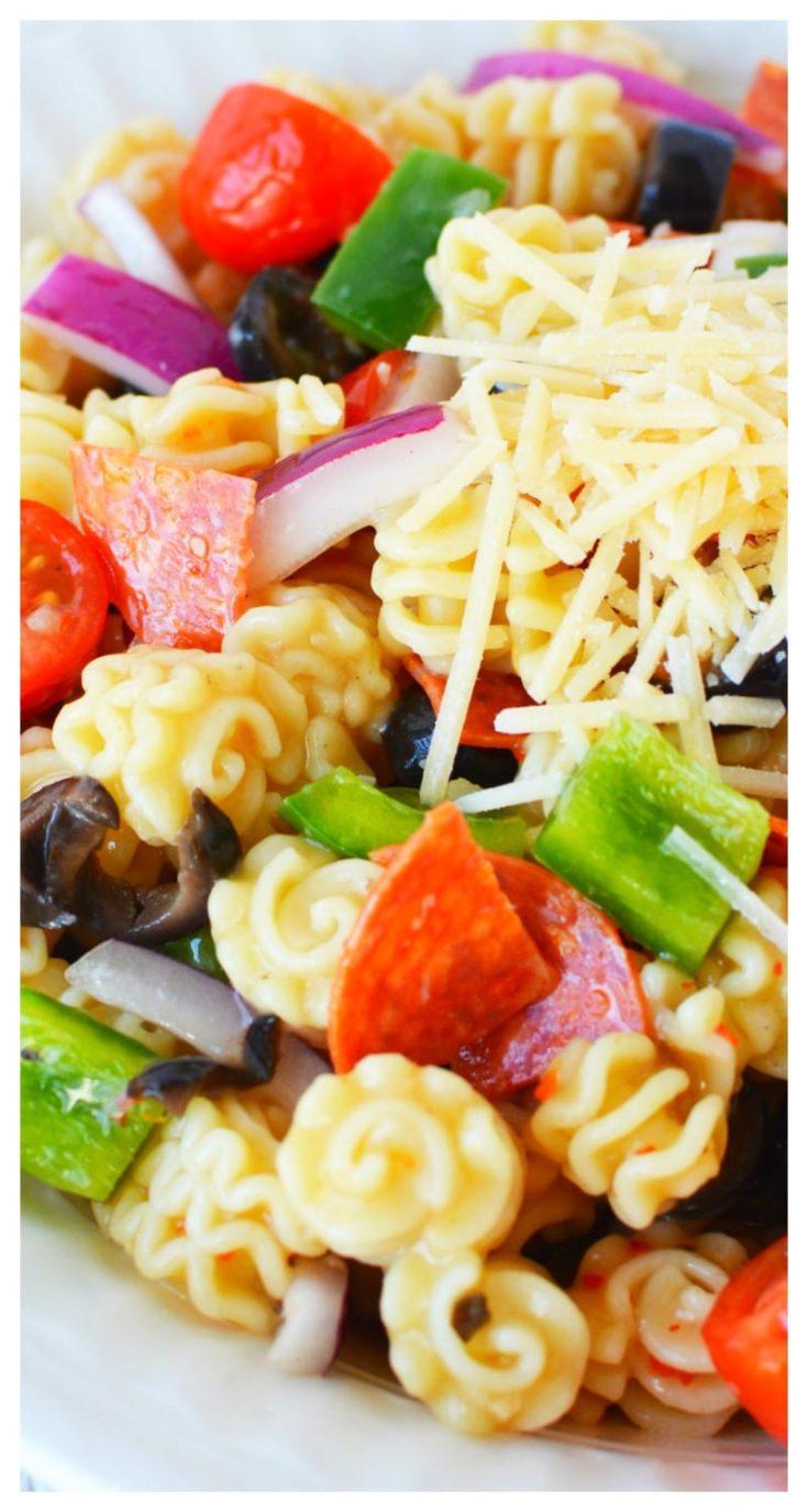 Radiatore Pasta Salad with Italian Dressing
