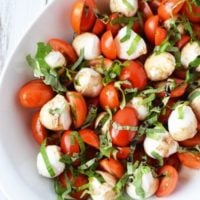 Caprese Salad Recipe with Cherry Tomatoes