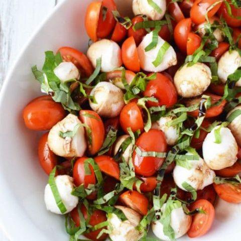 Caprese Salad Recipe with Cherry Tomatoes