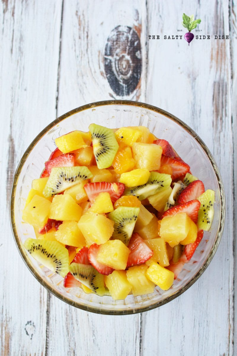 Tropical Fruit Salad Recipe | Amazing Fruit Salad with Honey and Lemon Dressing | 5 star Rated