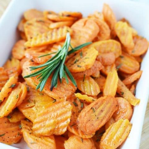 Roasted Carrots Recipe with Fresh Rosemary