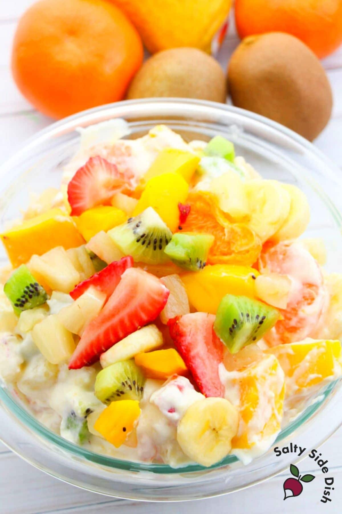 fruit and pudding in a bowl