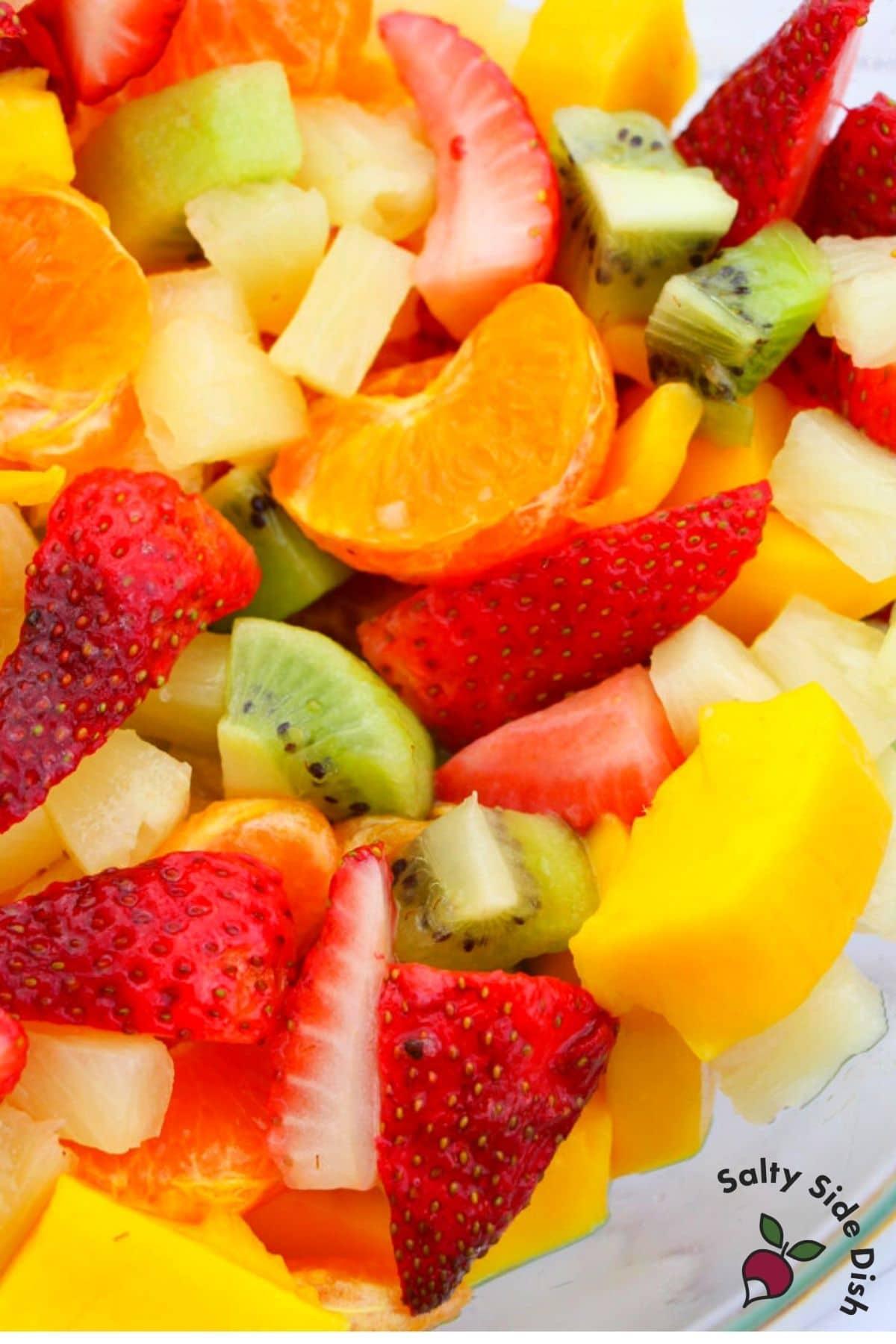cut up Hawaiian fruit