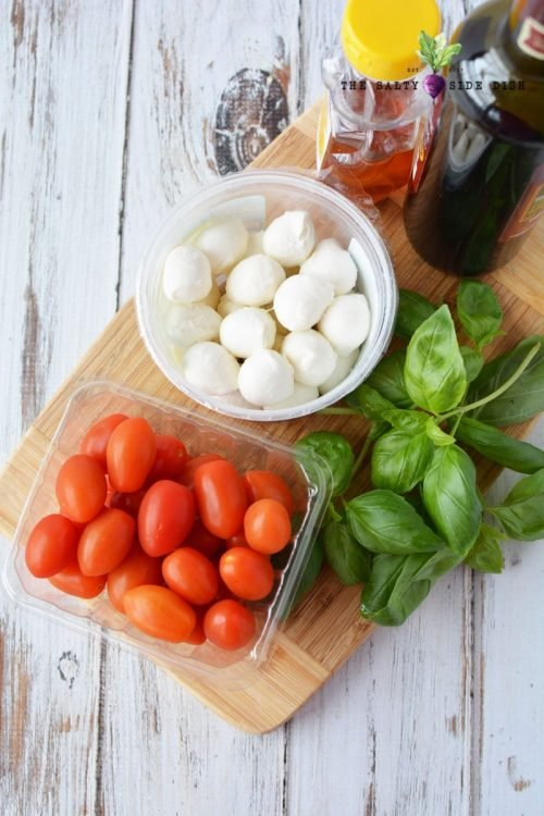 ingredients for this italian side dish all laid out and ready to be made