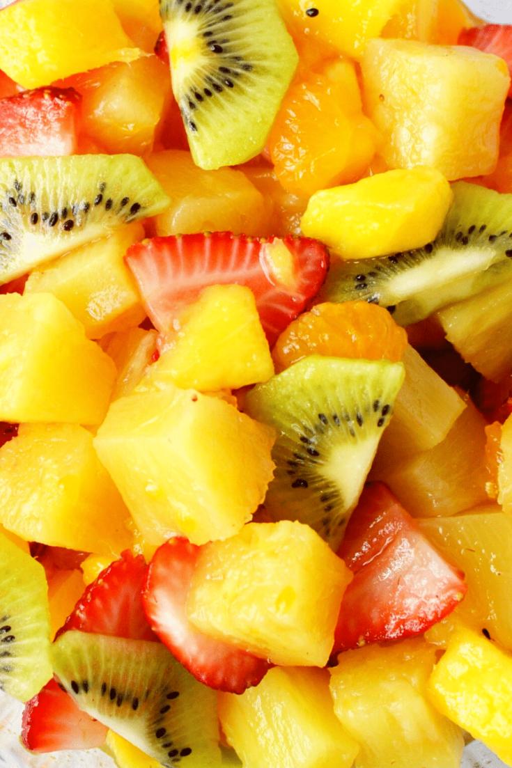 Fall Fruit Salad with Ginger, Honey and Lemon Dressing