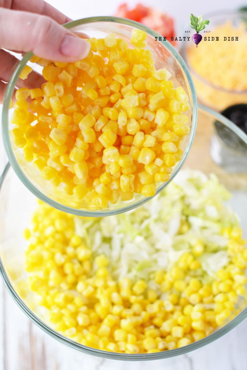 salad with corn