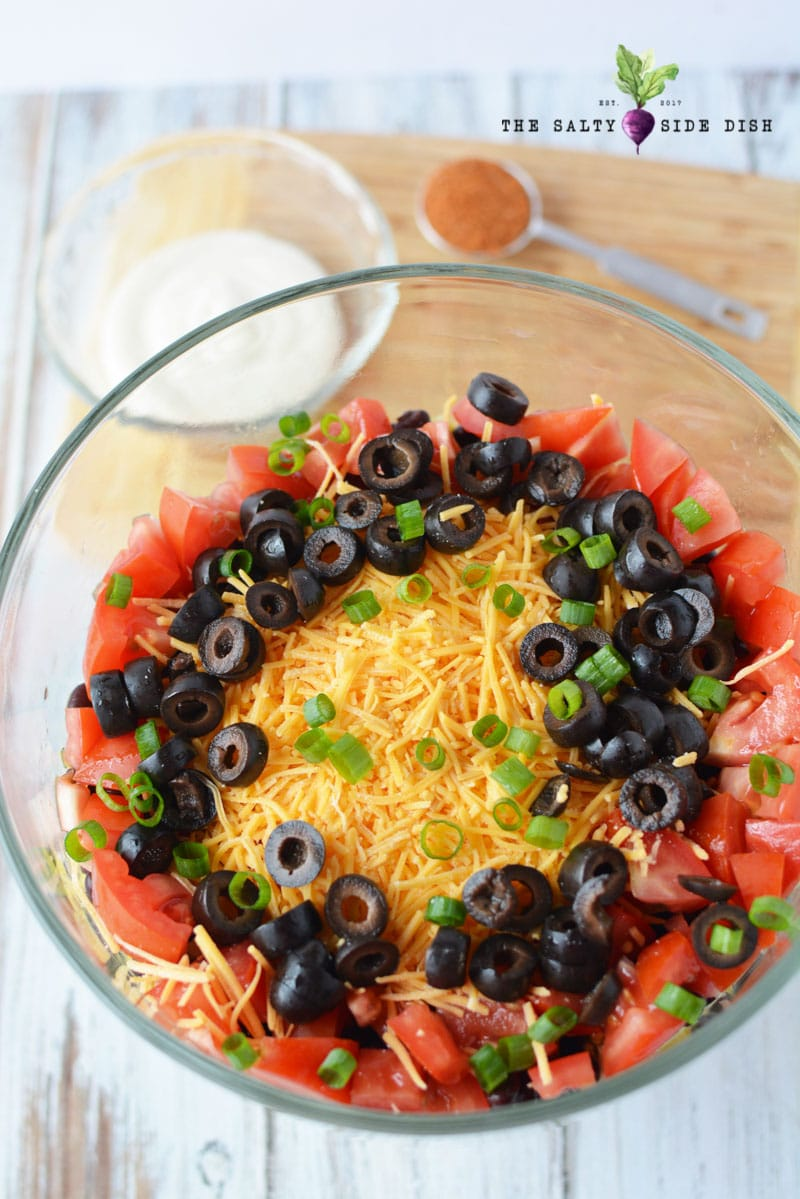 7 layer taco salad recipe