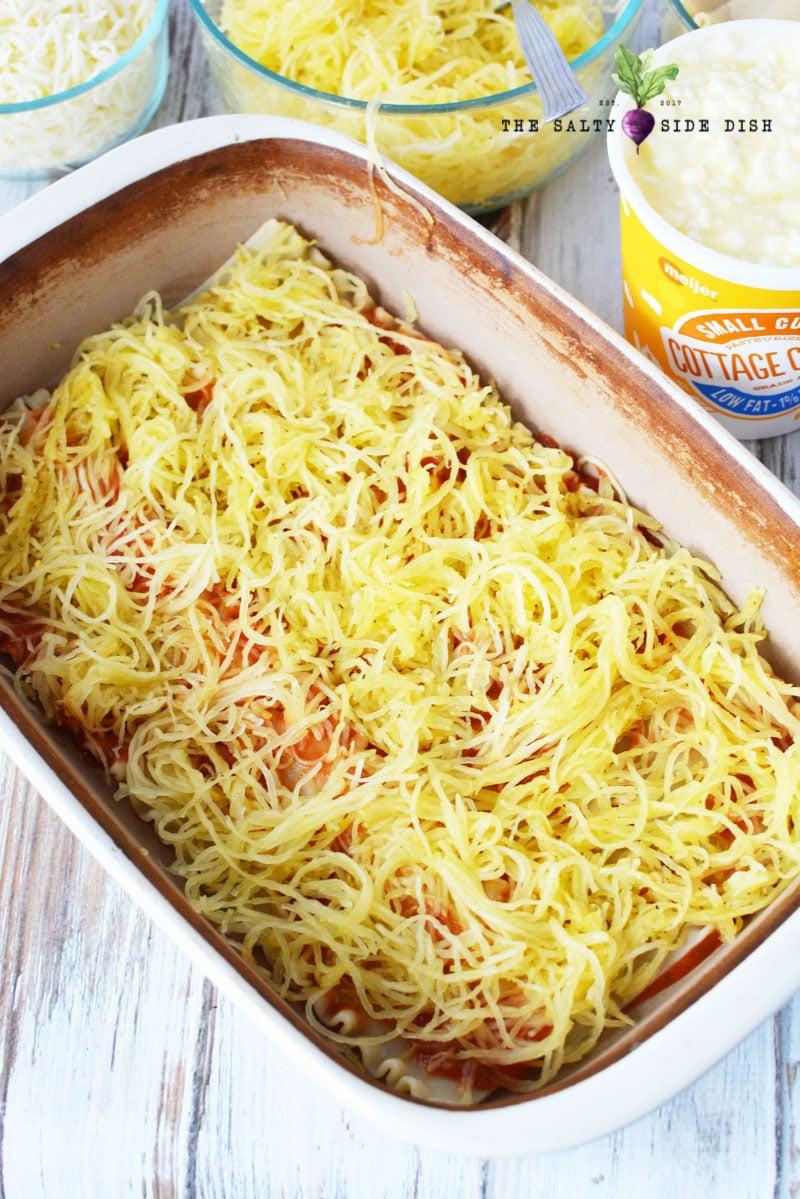 how to make Spaghetti Squash Lasagna