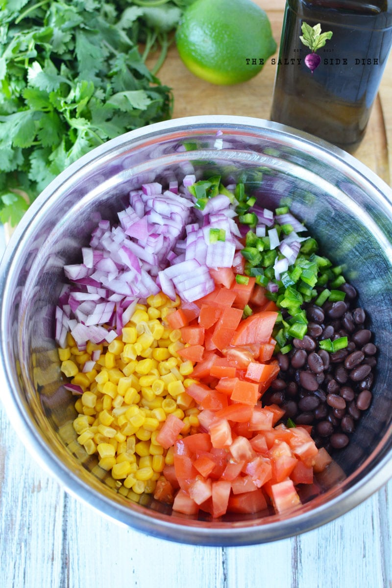 grilled corn and black bean salsa recipe