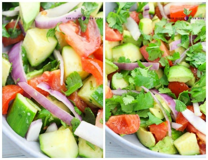Avocado Salad with Tomatoes and Cucumbers
