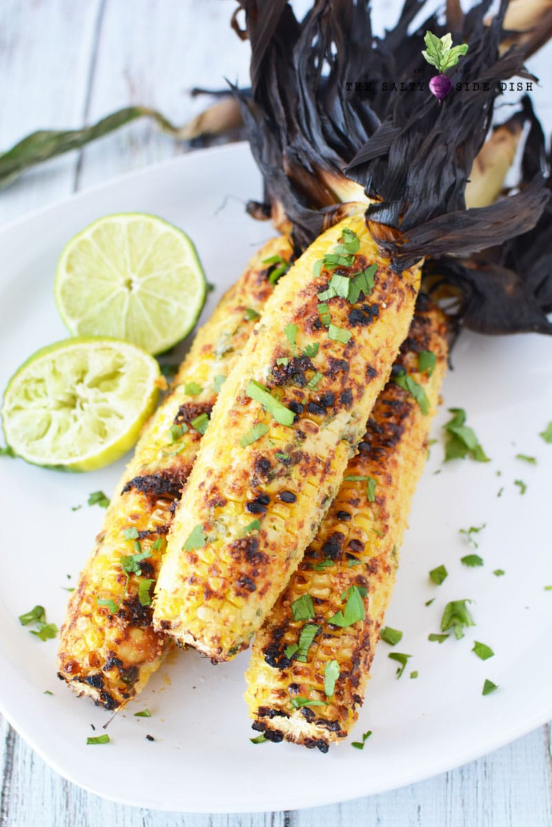 Mexican Street Corn (on the cob) recipe right on the grill | Sweet Savory Salty Perfection | Cinco De Mayo - bring the taco truck home!