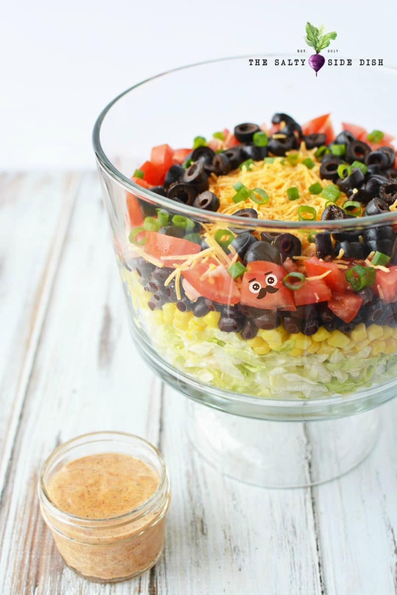 taco salad with layers