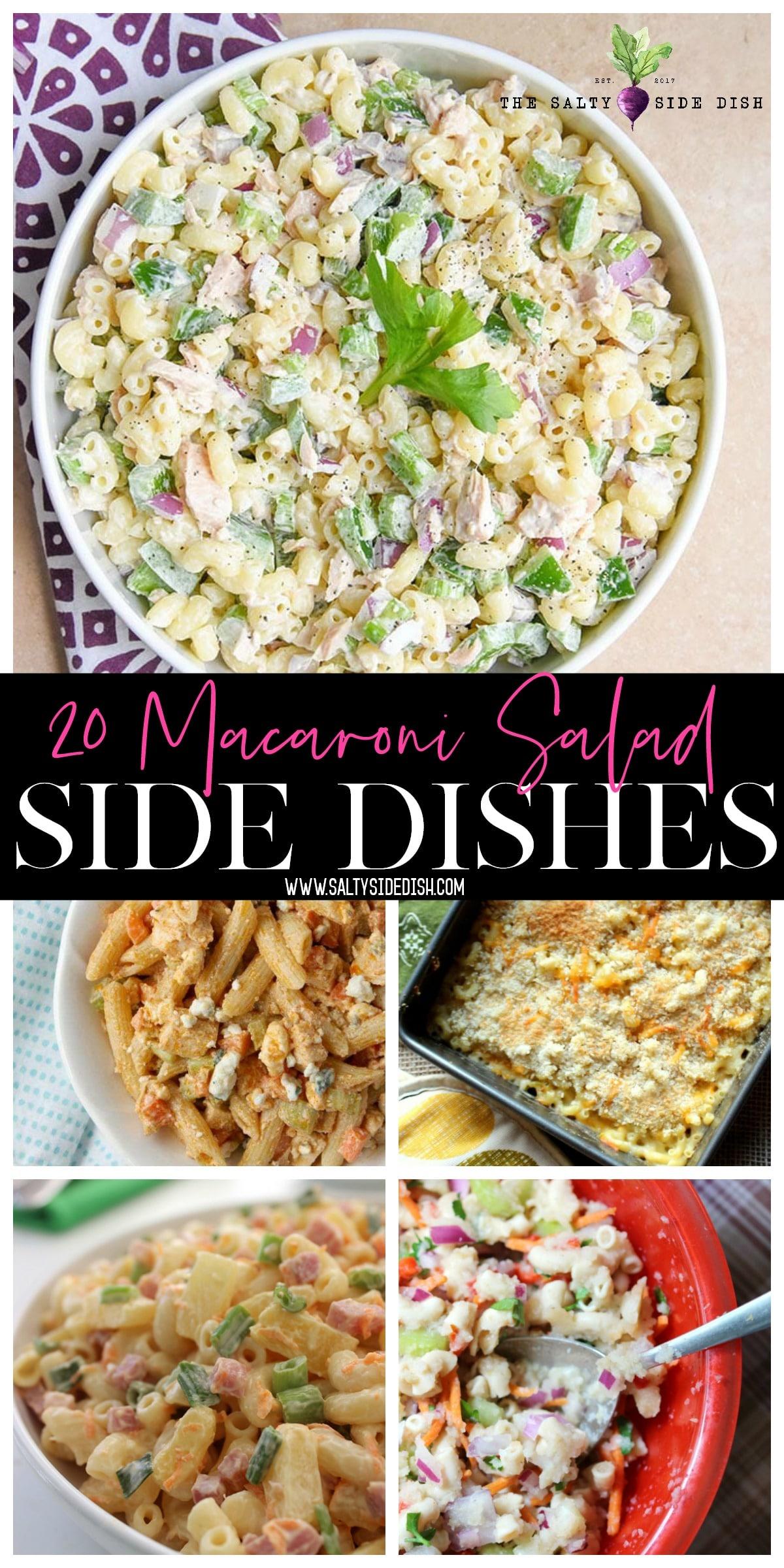 macaroni side dish collage