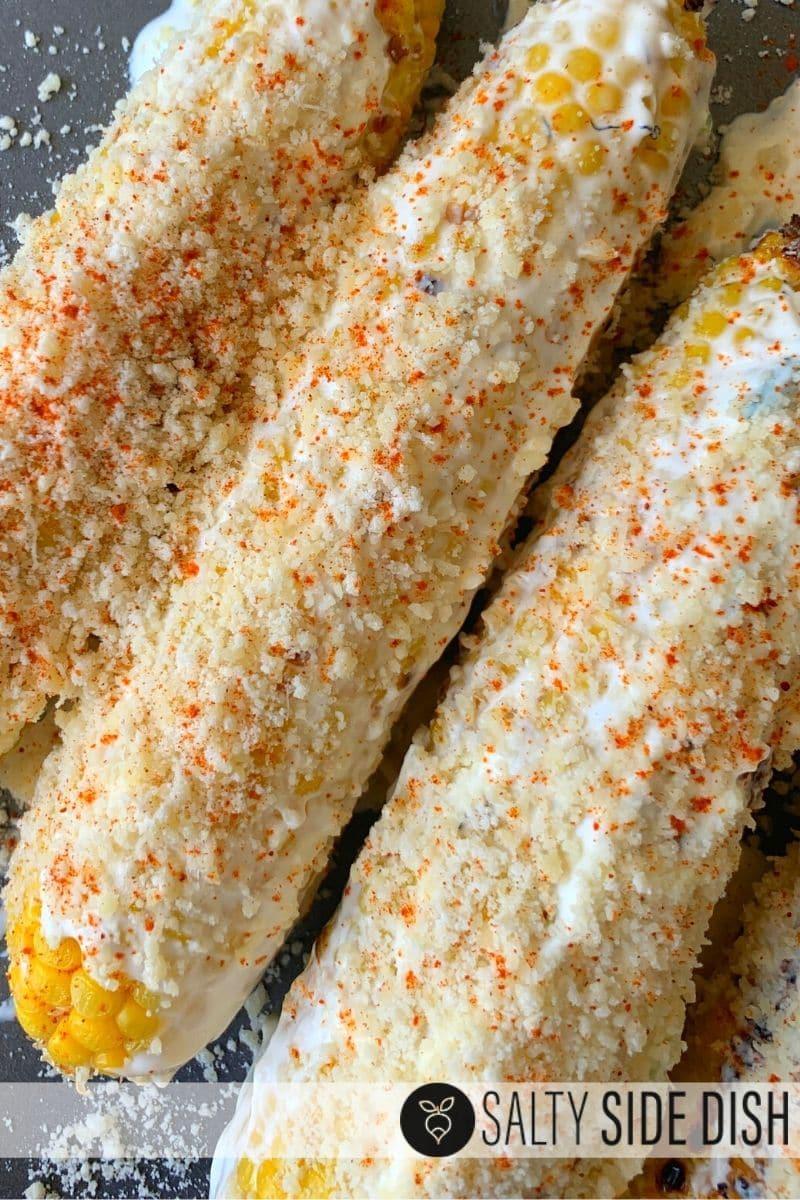 street corn with parmesan mayo