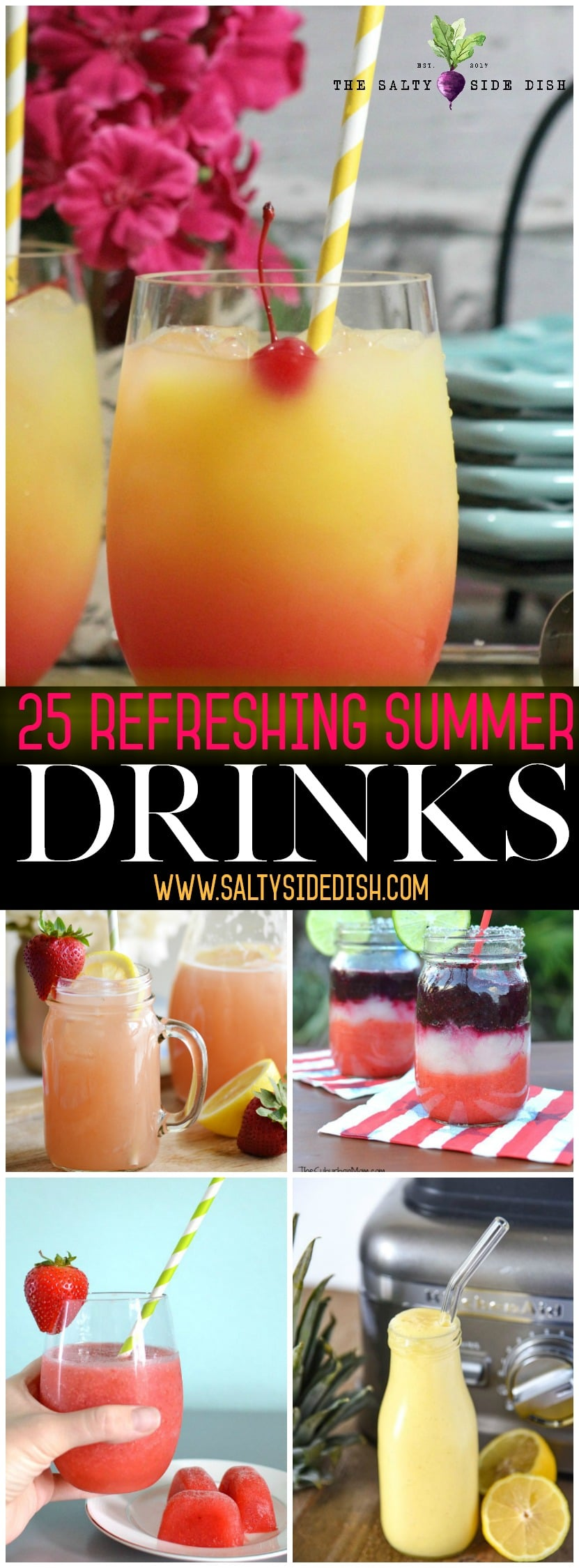25 Refreshing Summer Drinks perfect for spring, summer, and BBQ parties | Kid Friendly, Alcoholic and Mocktails