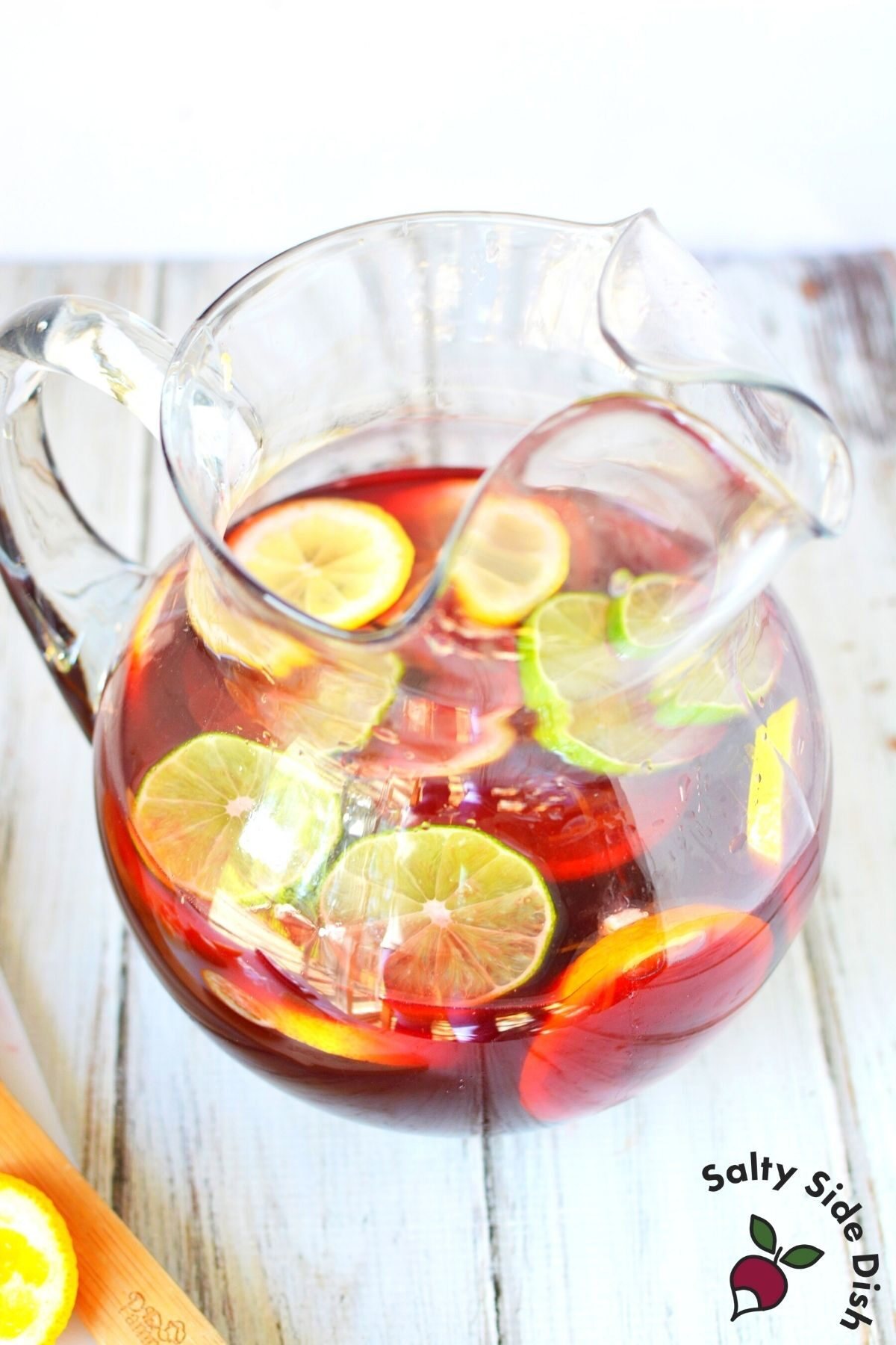 sangria in a clear pitcher.