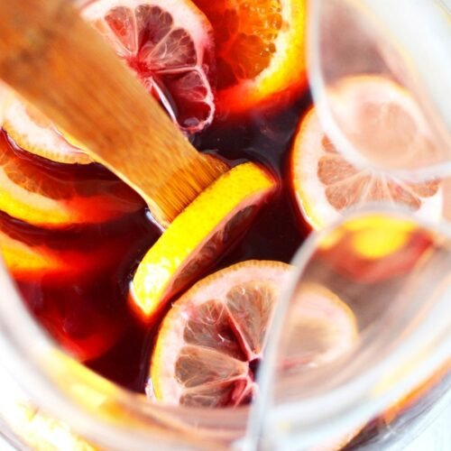 featured image for red sangria recipe.