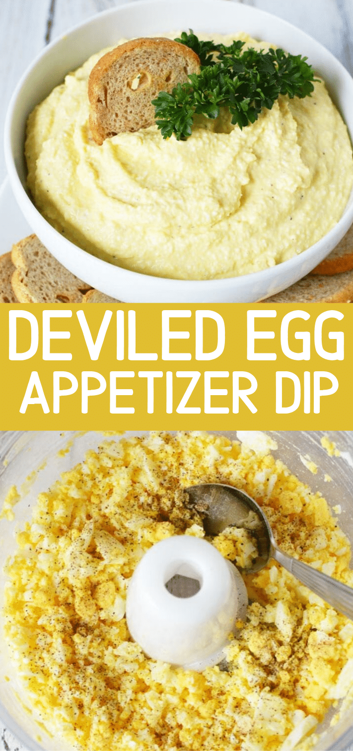 Deviled Egg Dip takes classic Southern Deviled Eggs and creates a Spread perfect for loading up your cracker