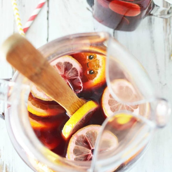Red Sangria Recipe with Fresh Fruit