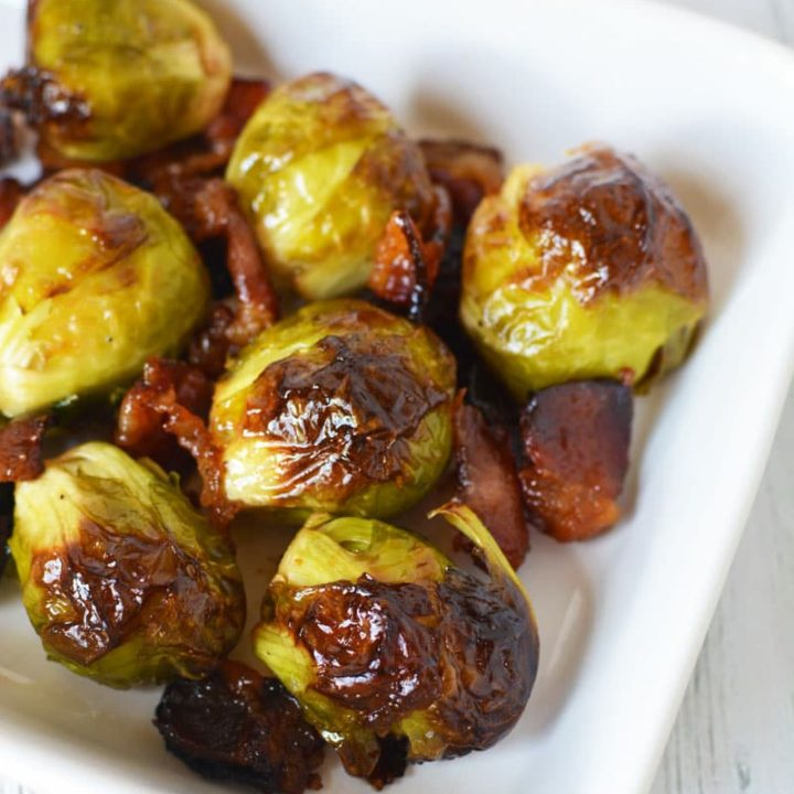 Brussels Sprouts with Bacon and Maple syrup
