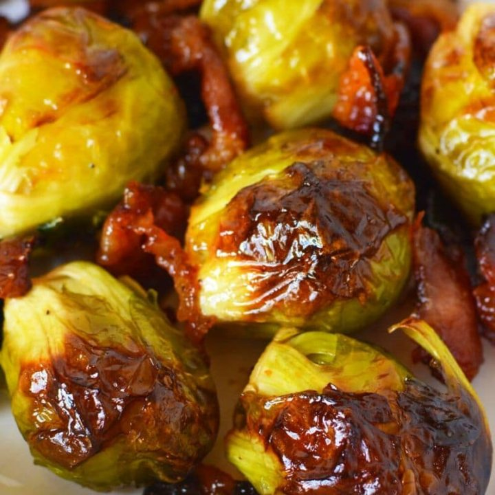 Maple Bacon Brussels Sprouts in 15 Minutes!
