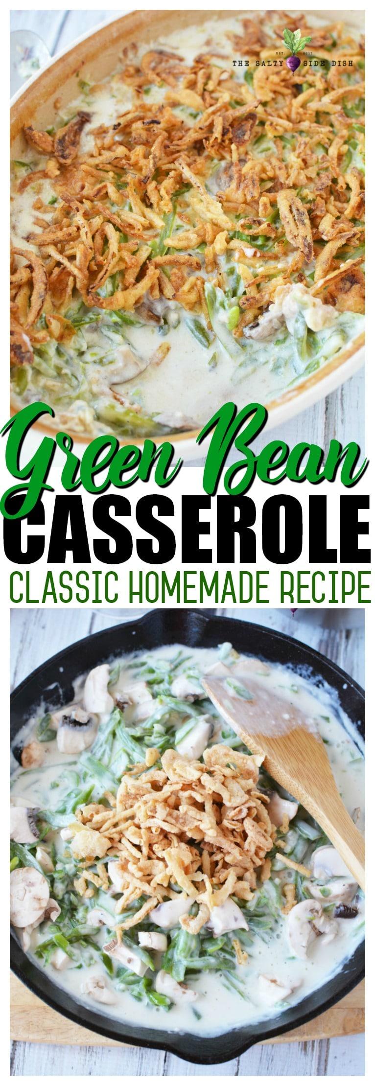 classic homemade green bean casserole