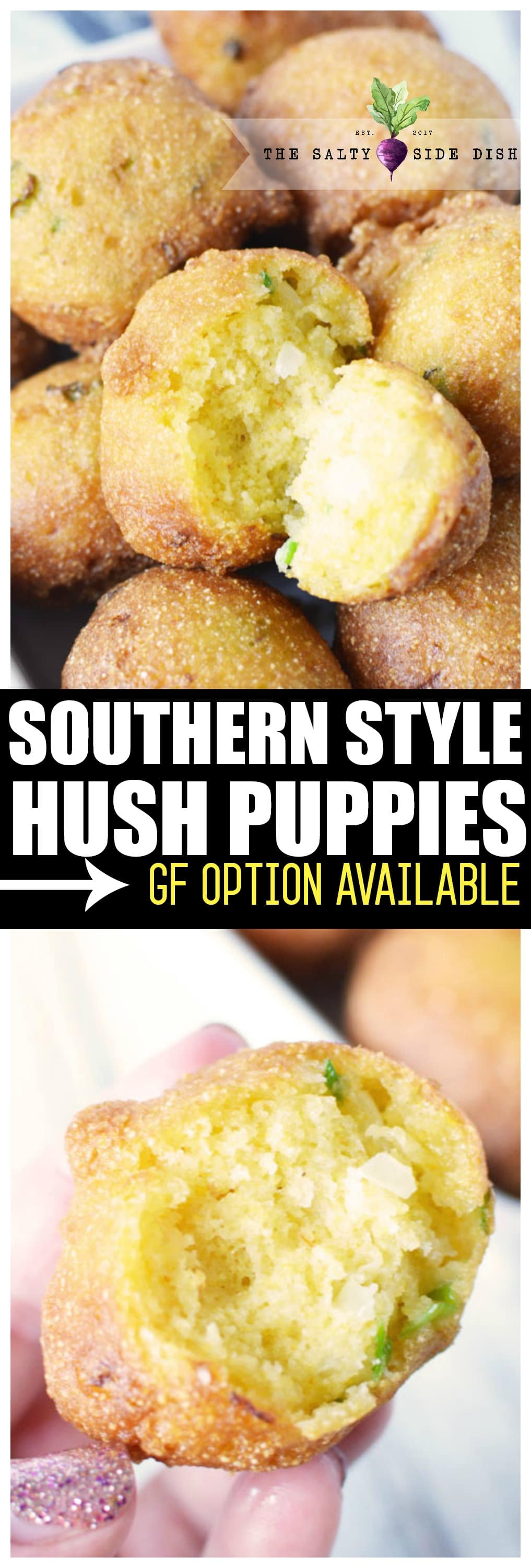 Hush Puppies Recipe an easy southern delicacy with the right amount of sweet and salty balance #hushpuppies #bbq #bread #sidedish