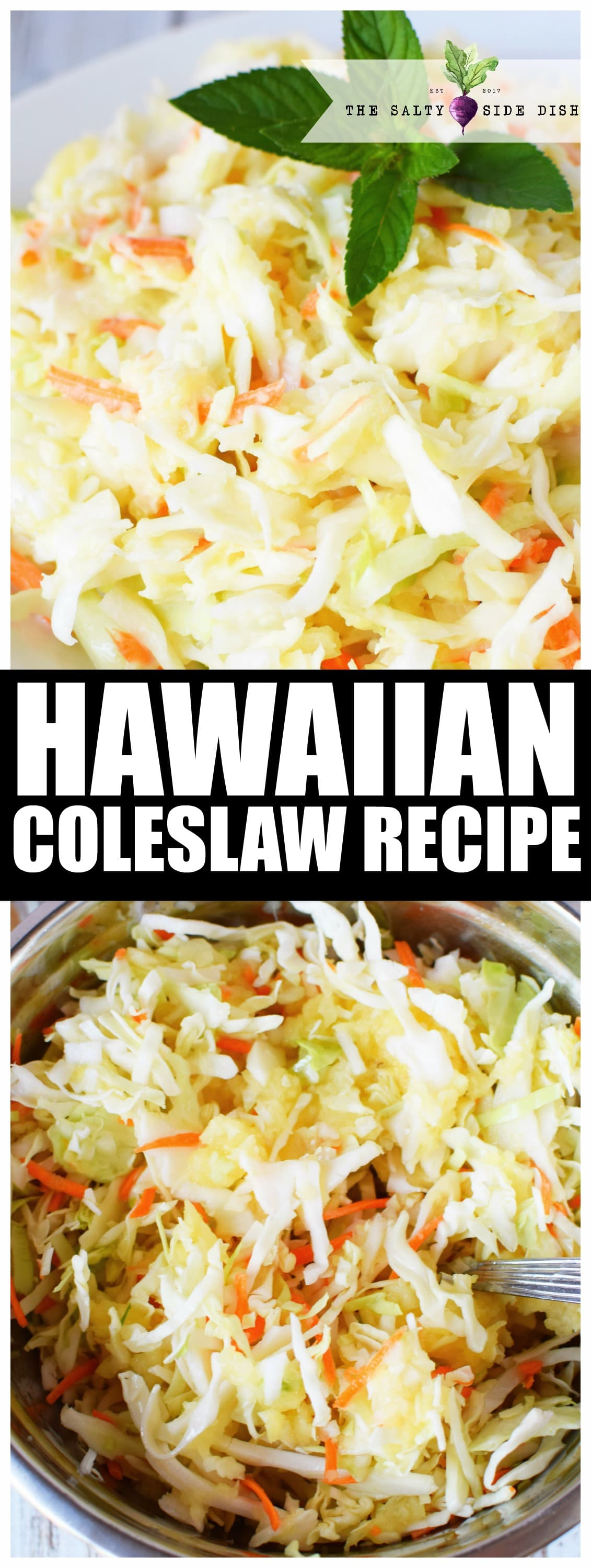 Hawaiian Coleslaw Recipe | Authentic and Sweet Coleslaw with Pineapple and Brown Sugar #sidedish #Hawaiian #sweet #recipe #sidedish #BBQ #party