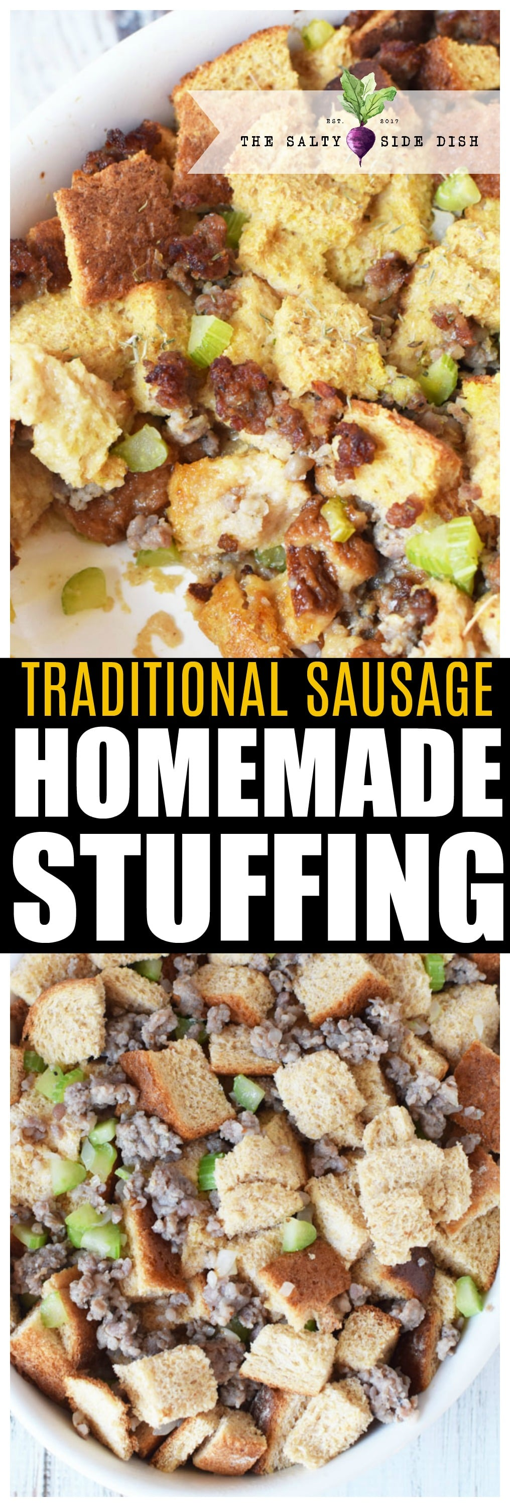 Homemade Stuffing | Easy from scratch Sausage Stuffing Recipe | Thanksgiving Side Dish #stuffing #holidays #thanksgiving #sausage #homemade #recipe