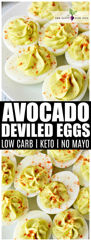 Avocado deviled eggs | Keto Friendly | Low Carb | A unique twist on a classic favorite #deviledeggs #eggs #sidedish