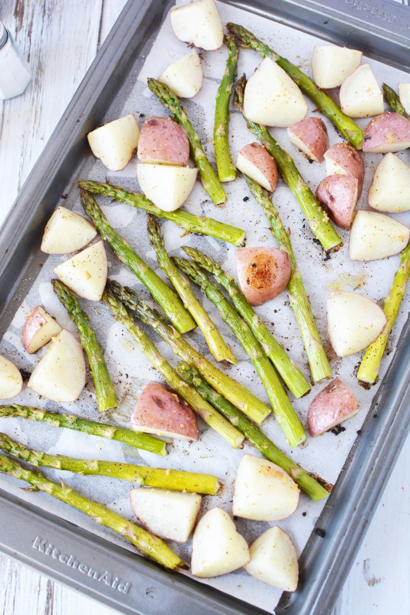 oven roasted asparagus and potatoes