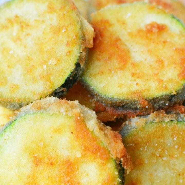 Fried Zucchini Recipe | Parmesan and Almond Flour Crust