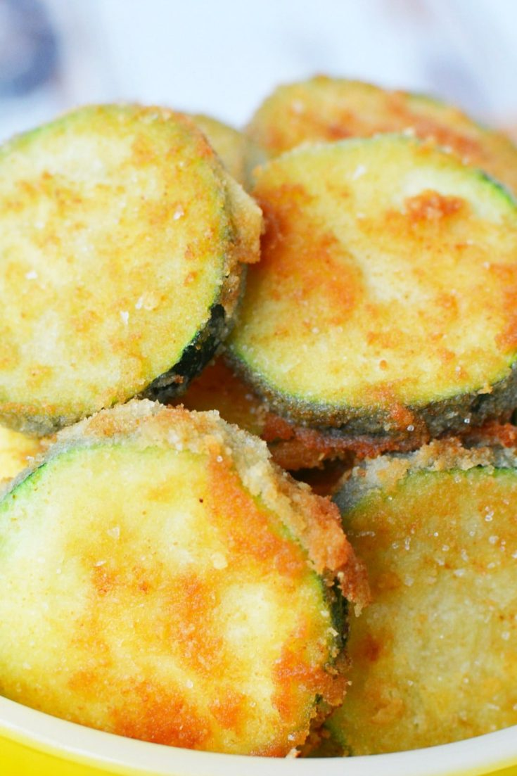 Fried Zucchini Recipe | Parmesan and Almond Flour Crust