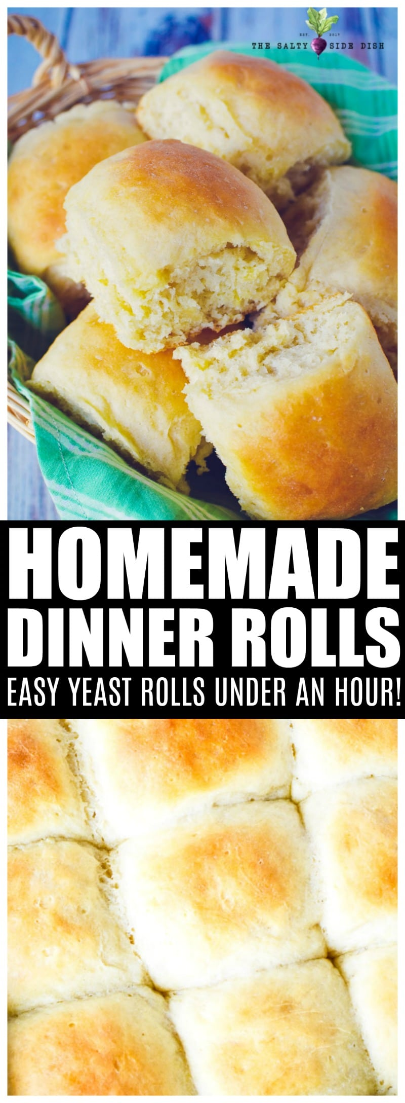 Easy Dinner Rolls Recipe | Classic Dinner rolls | Soft no knead homemade yeast rolls that are simply DIVINE, fast, and easy! #sidedish #bread #rolls #homemade #yeast #classic #thanksgiving #holiday #sidedish