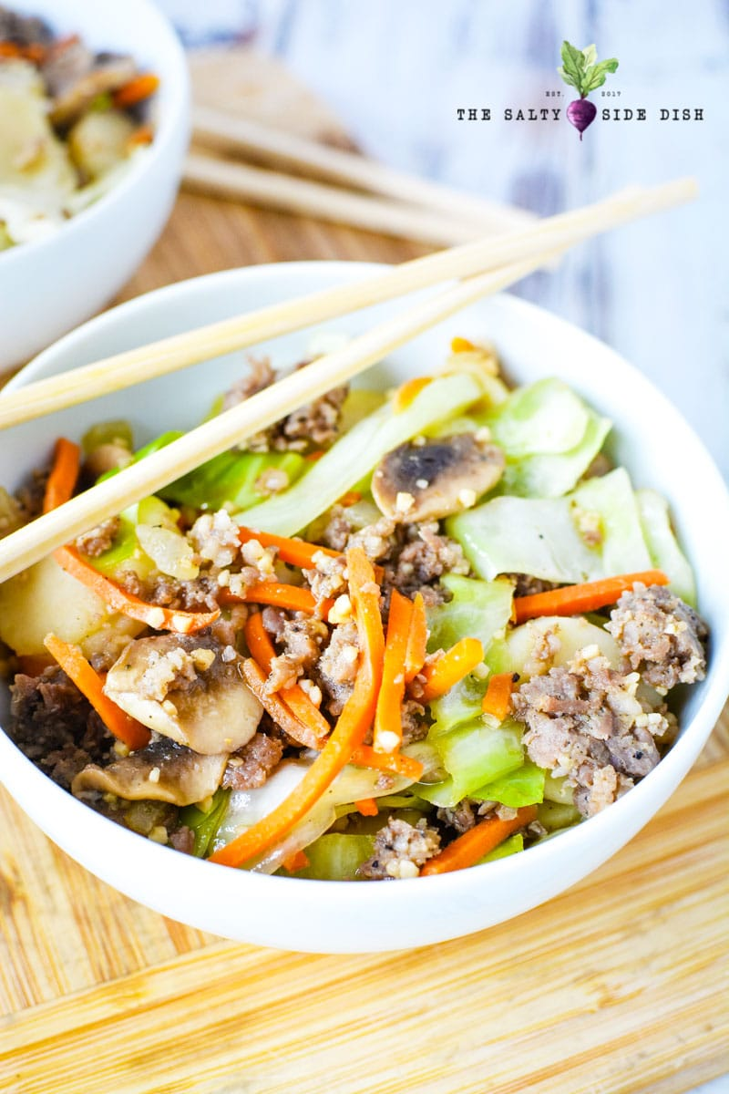 how to make egg roll in a bowl with sausage and low carb