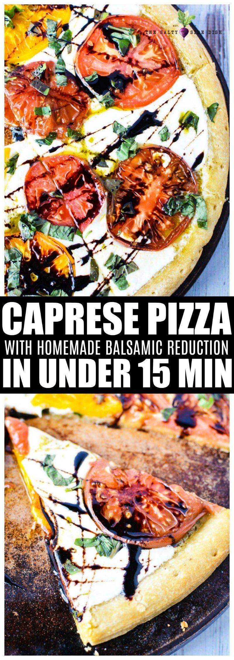 Caprese Pizza with homemade balsamic glaze | Perfect Appetizer or Main Dish #caprese #pizza #sidedish #appetizer