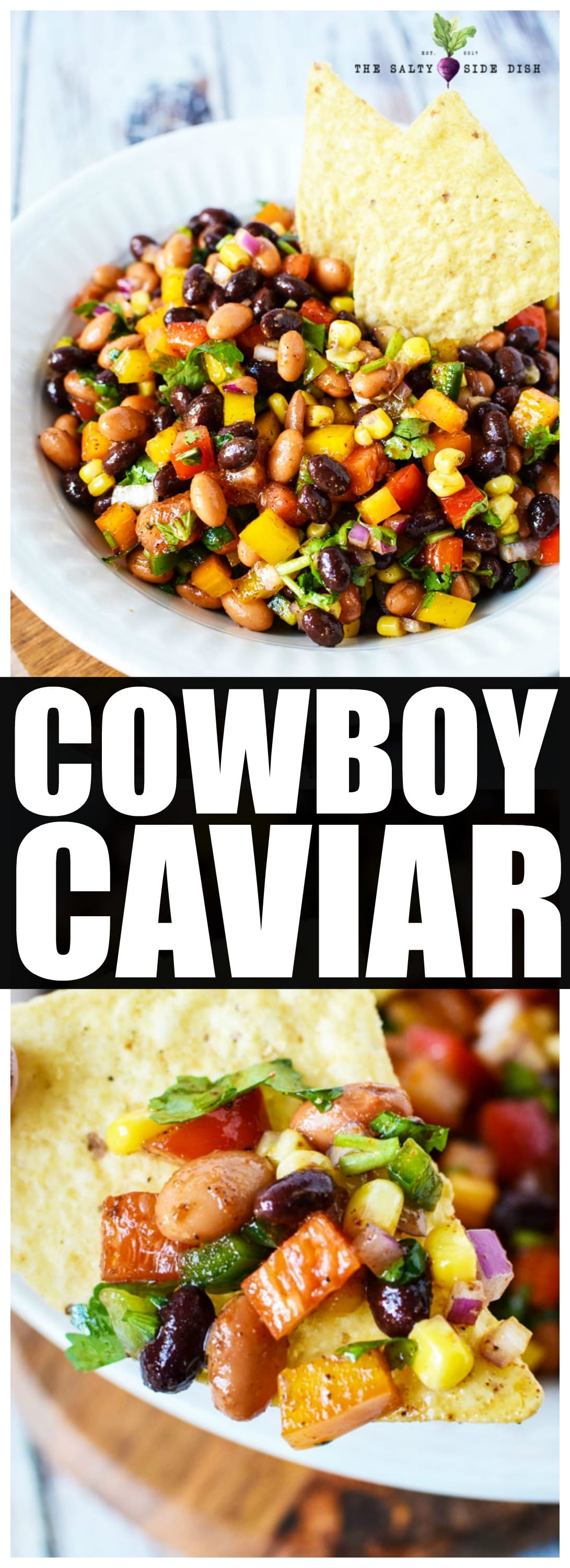 Cowboy Caviar | Texas Caviar Dip Recipe full of veggies and beans, a hearty. spicy, and EASY dip everyone loves #dip #caviar #appetizer #partyplatter #dips #recipes