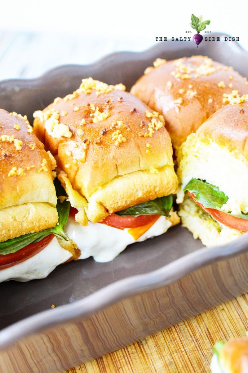 baked caprese sandwich