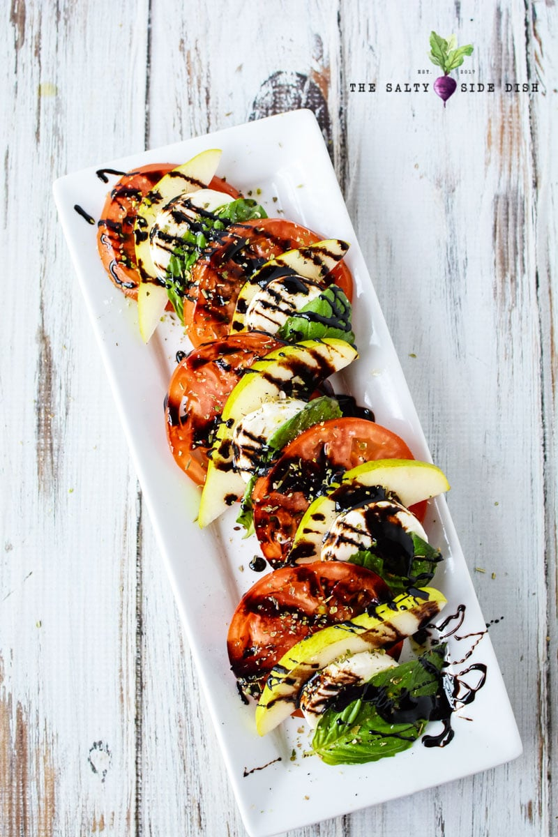 gorgeous caprese salad platter for serving at a party
