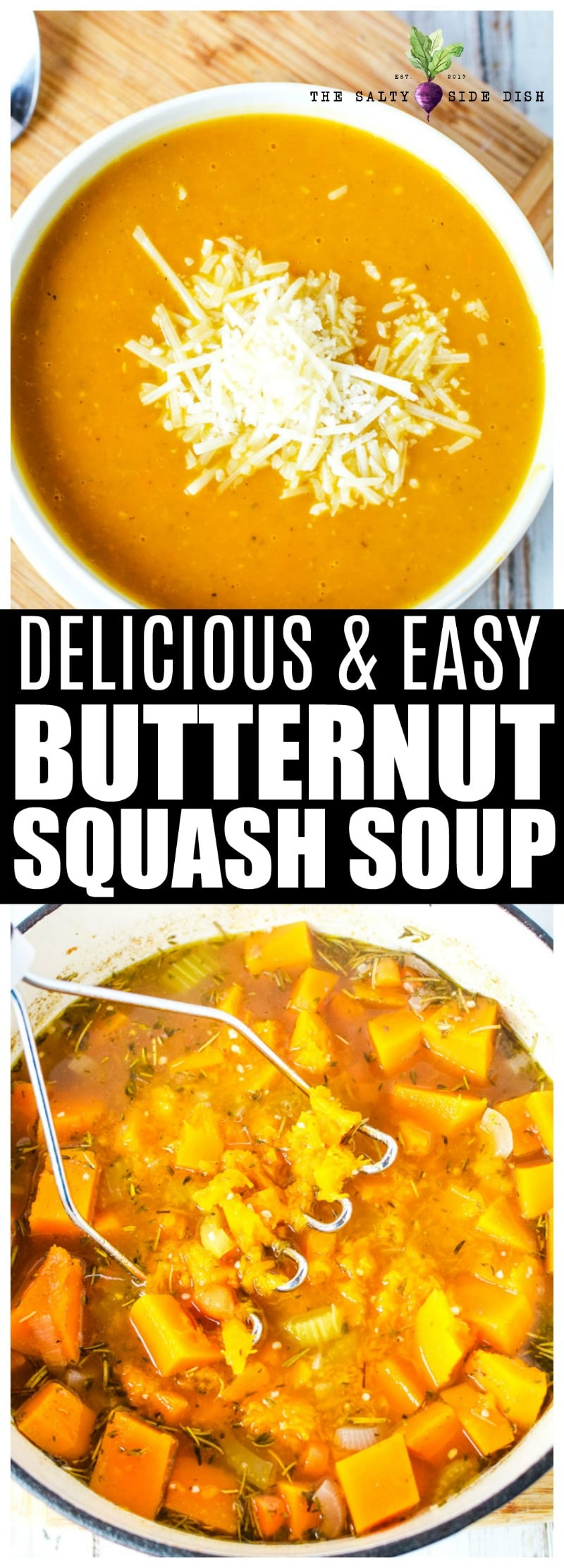 Butternut Squash Soup, a hearty and creamy winter squash soup that will remind you why you love the holidays so much #soup #squash #butternutsquash #holidays #winter