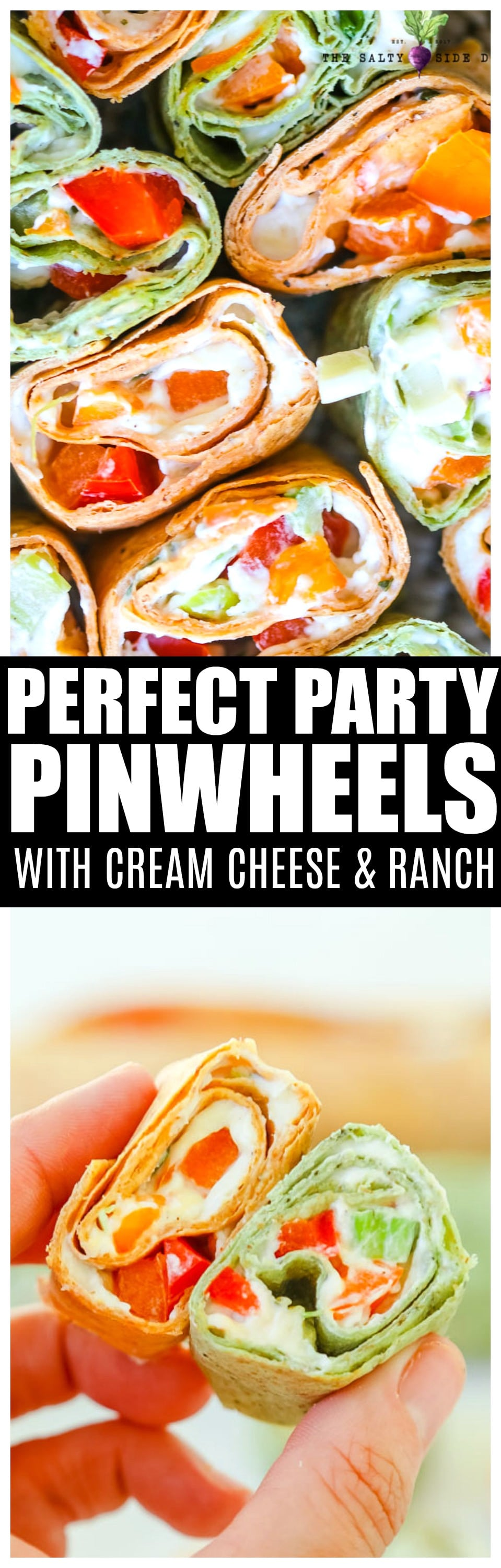Pinwheel Sandwiches with Cream Cheese and Diced Veggies | Perfect Pinwheel Appetizer Recipe #appetizers #holiday #creamcheese #holidays